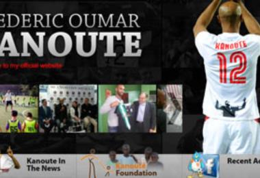 Website for Frederic Oumar Kanoute, the famous football player from Sevilla, Spain