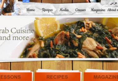 Ghada el Tally website, a famous chef, where she shows her recepies and cooking instructions on.
