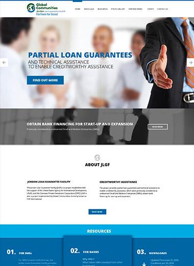 JLGF Website, a website for a commercial entity