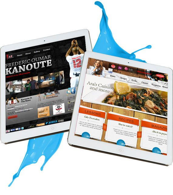 ipad with a website showing on it, responsive website view